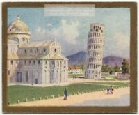 Cathedral and Leaning Tower Of Pisa Italy 1920s Trade Ad Card