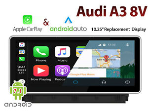 """Audi A3 8V 10.25"""" Apple CarPlay & Android Audio Integrated replacement Display"""