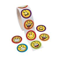EMOJI PARTY Stickers Smiles Fun Face Emoticon Favours Sticker Pk of 50 Free Post