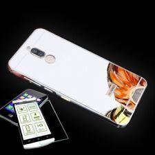 Alu Bumper 2 teilig Silber + 0,3 H9 Hartglas für Huawei Mate 10 Lite Tasche