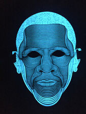 SOUND MUSIC Activated LED LIGHT UP FLASHING DJ PARTY BLUE MAN FACE MASK