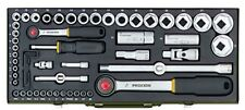 """Proxxon 23040 Komplettsatz mit 1/4""""- und 1/2""""-Ratsche, 56-teilig"""