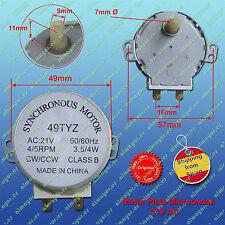 Synchronous motor 21V VAC 4W  4/5 RPM microwave - Motor microondas 21V