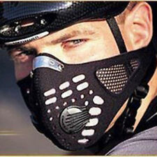 Super Anti Dust Cycling Bicycle Bike Motorcycle Racing Ski Half Face Mask Filter Black