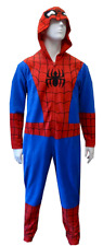 $161 BRIEFLY STATED MENS PAJAMAS SPIDERMAN ONE-PIECE JUMPSUIT SLEEPWEAR SIZE L