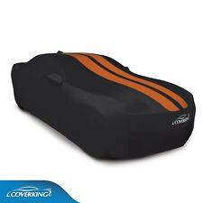 COVERKING Black Satin Stretch™ Car Cover 2010-2015 Camaro Inferno Orange STRIPES