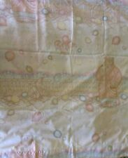 VTG Twin Flat Sheet Matching Pillow Cases Balloons Bears Rabbit Pastel Colors