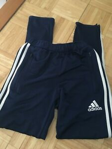Boys ADIDAS Navy Climacool Joggers Classic Stripe Athletic Pants YLG 14 Large L