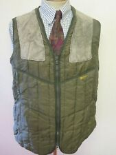 """Vintage Barbour Quilted Gilet Waistcoat S 34-36"""" Euro 44-46 - Green"""