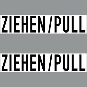 2 Aufkleber 20cm Sticker ZIEHEN Hinweis zum Öffnen Tür Fenster 4061963018026