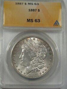 BU 1887 Morgan Dollar ANACS MS63.  #22