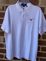 NEW Vineyard Vines University of Texas Longhorns White Polo Golf Shirt Large