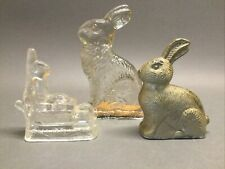 Vintage Easter Bunny Peter Rabbit Glass Candy Containers Millstein Wheelbarrow