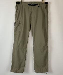 REI Co-op Women's Convertible Denali Pants Khaki Pockets Size 12