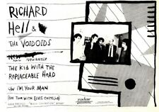 """F27 NEWSPAPER ADVERT 7X11"""" RICHARD HELL & THE VOIVOIDS KID WITH THE REPLACEABLE"""