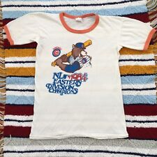 Vintage 1984 Chicago Cubs Shirt Fitted Medium 80's MLB Eastern Champion