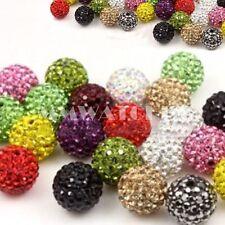 Strassperlen Shamballa ~10mm Perlen Beads Aquamarine NELLYS  2 Stk