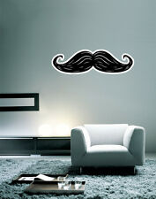 "Moustache Wall Decal Large Vinyl Sticker 30"" x 9"""
