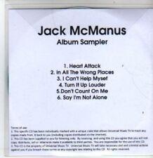 (BT338) Jack Mcmanus, Pickin' Up The Pieces Album Sampler - DJ CD