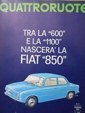 Quattroruote n°98 1964  - Tra la 600 e la 1100 Nascerà FIAT 850  [Q79B]