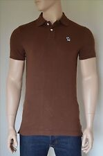 NEW Abercrombie & Fitch Classic Icon Logo Polo Shirt Brown Moose M