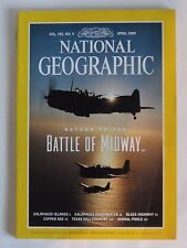 """National Geographic Magazine ... April 1999 ... """"Return To The Battle Of Midway"""""""