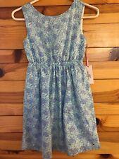 NWT Vineyard Vines Turtle Print Tie Back Dress Girls Size 10