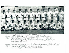 1958 MINNEAPOLIS MILLERS  8X10 TEAM PHOTO BASEBALL BOSTON RED SOX GENE MAUCH