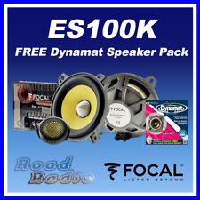 FOCAL ES100K 2-Way Component Car Speakers + Free Dynamat Xtreme Speaker Pack