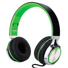 RockPapa Adjustable Foldable DJ Headphones Headset for iPhone iPod iPad Green