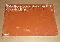 Audi 80 von 08/1979 Betriebsanleitung Handbuch