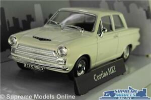 FORD CORTINA MK1 MODEL CAR WHITE 1:43 SCALE SALOON MARK ONE CARARAMA K8