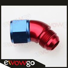 AN-10 10AN To AN10 45 Degree Female To Male Full Flow Adapter Fitting Red/Blue