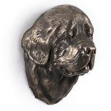 Neufundländer, Statuette hängen an einer Wand, Bronze, Art Dog, CH