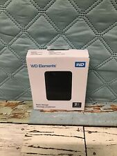 WD 2TB Elements Portable Hard Drive USB 3.0 Model WDBU6Y0020BBK-WESN Black