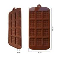 4X Mini Chocolate Bars Slab Silicone Fondant Mould Cake Decor Baking bara