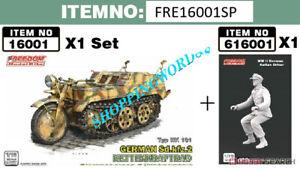 FREEDOM 16001SP 1/16 WW.II German Sdkfz.2 Kettenkraftrad & Driver Figure Set