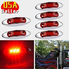 6X Side Marker Light 3 LED Red For Car Truck Trailer Lorry Van Pickup Fish shape