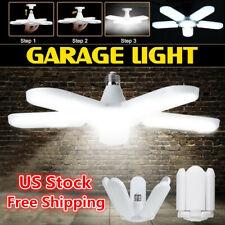 LED Garage Light E27 Bulb Deformable Ceiling Fixture Lights Shop Workshop Lamp