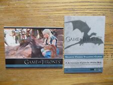 2014 GAME OF THRONES SEASON 3 P4 PROMO CARD DANNY & HER DRAGONS