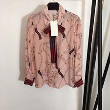 2020 Women Silk Shirt Loose Runway Designer Fashion Blouse Luxury Wholesale New
