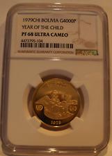 Bolivien 1979 Gold 4000 Pesos Bolivianos NGC PF68UC Jahr Of The Kinder
