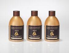COCOCHOCO Gold 3*250ml mit flüssigem 24k Gold – neue und verbesserte Rezeptur