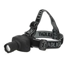 Silverline LED Head Torch 1W Headlamp Spotlight / Floodlight Zoom 250734