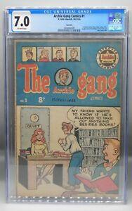 CGC 7.0 Australia 1951 ARCHIE GANG COMICS #1 Variant Archie 48 LAUGH Pep WILBUR