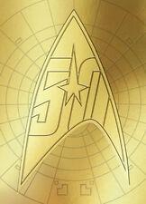 2016 STAR TREK The Original Series 50th Anniversary Gold Embossed Promo Card P1