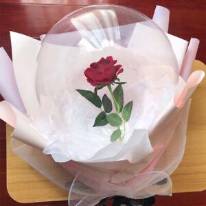 "50 Pcs 20"" LED Transparent Clear Bubble Balloons Wedding Birthday Party Decor"
