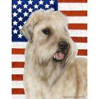 Patriotic (D2) Garden Flag - Wheaten Terrier 320561