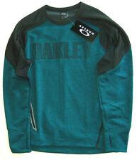 NEW OAKLEY SUNGLASSES $125 SZ L Legion Blue Dark Heather LS Sweater Shirt 461404