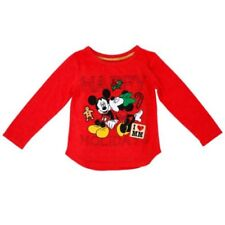 Mud Pie Baby RED CHIFFON ROSETTE LONG SLEEVE TOP 131253 Christmas Eve Collection